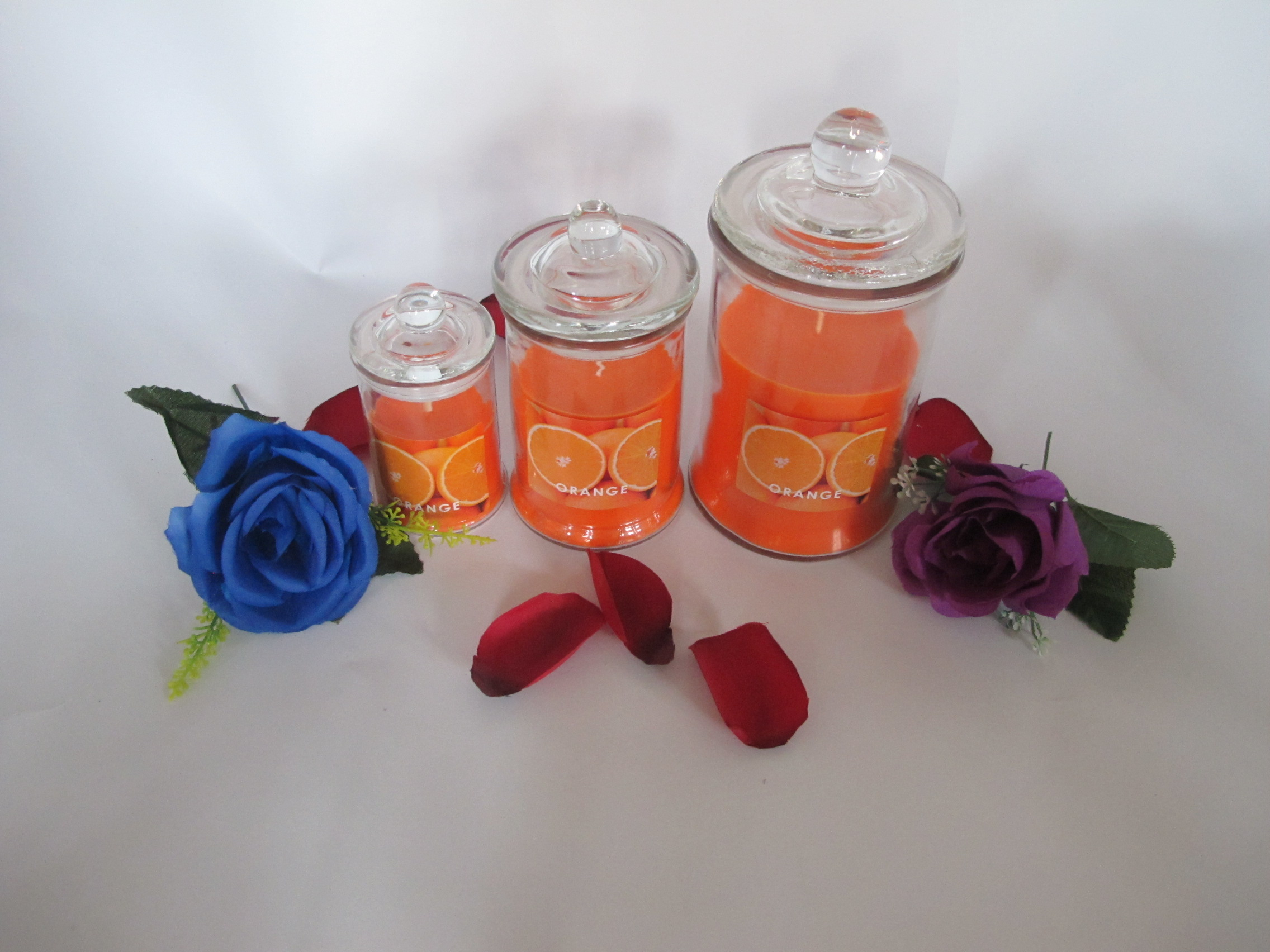 Tall Glass Candles
