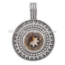 Belle bijouterie en quartz gemme fumée et bijoux en argent sterling 925 en argent sterling