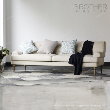 Sofás cama de tapicería americano Sofá 3 plazas de tela de diseño moderno