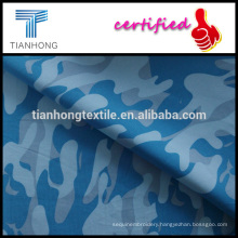 army design navy blue 100 cotton high quality poplin weave mid thin camouflage printed fabric for garment