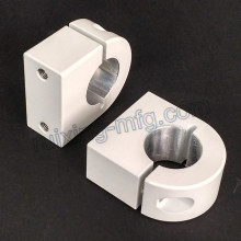 Aluminum Extrusion CNC Machining Aluminum Clamp with Powder Coated White