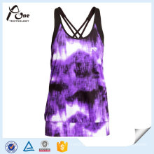 90 Polyester 10 Elastane Ladies Tank Top for Sports