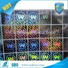 Autocollant holographique personnalisé de haute qualité Sticker autocollant 3d / anti-theft