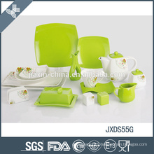 green like plants special design luxury porcelain tableware