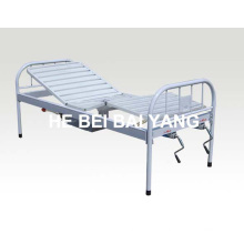a-190 All Plastic-Sprayed Double Function Manual Hospital Bed