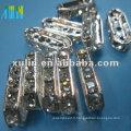 SP03 verre cuboid strass spacer connecteur perle en vrac
