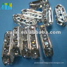 SP03 glass cuboid rhinestone spacer connector bead in bulk