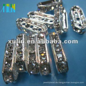 SP03 Glas Quader Strass Abstandhalter Perle in Masse