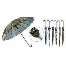 Tierhaut-Druck 16ribs automatischer Regenschirm (YS-SA23163905R)