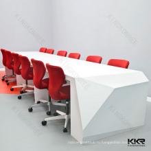 Белый Твердый поверхностный акриловый барный стол настроить по ККР