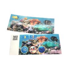 Billet RFID d'impression personnalisée pour le parc mondial sous-marin
