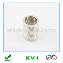 washer ring shape magnet nickel plated
