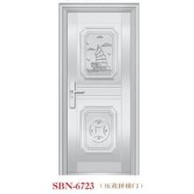 Porta de aço inoxidável para a luz do sol exterior (SBN-6723)
