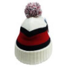 Bonnet en tricot avec dessus POM NTD30