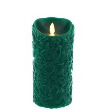 luminara embossed led pillar candle