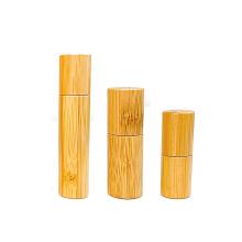 environmentally  3ml 5ml 10ml 10ml bamboo glass roll on bottle with bamboo cap
