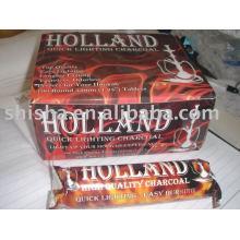 Лучшее качество круглая таблетка 33 мм Голландии уголь яблоко Вудс древесного угля