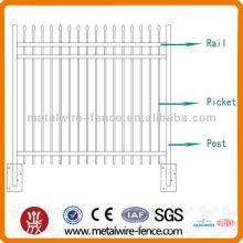 Valla de seguridad de tubo de hierro decorativo