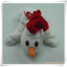 Ímã enchido do boneco de neve do urso do brinquedo do luxuoso para a promoção