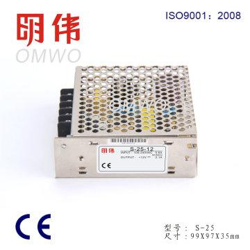 Fuente de alimentación del modo del interruptor 25W 12V 2A SMPS S-25-12