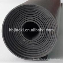 Feuille de caoutchouc d'insertion de tissu de NR / SBR mince feuille en caoutchouc