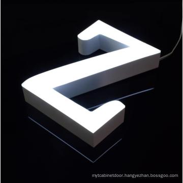 Professional custom led acrylic letter logo sign board