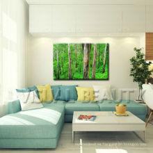 Pintura del bosque en el arte de la pared de la decoración del hogar de la impresión de la lona Dropship