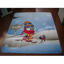 100 % Polyester gedruckt Decke (SSB0106)