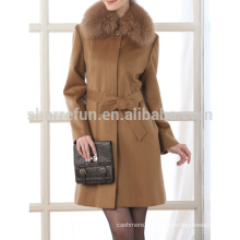 2015AW dames 100% Cachemire Over Coat vente chaude de Chine