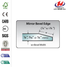 80in Beveled Edge Mirror Solid Core Bi-fold Door