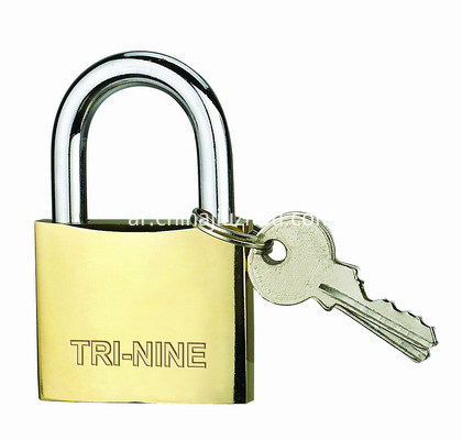 M-THICK BRASS PADLOCK-SUPER POLISH-400