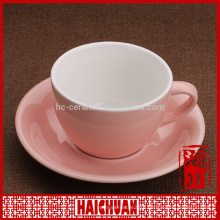 8 oz cup and saucer for coffee, latte and cappuccino