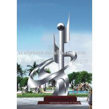 Sculpture de ville en acier inoxydable