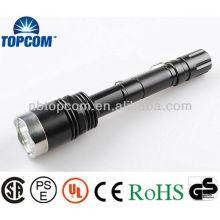 Lampe de poche tactile à cristaux liquides en aluminium à haute puissance en aluminium et rechargeable en aluminium