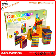 Playmags Magna Tiles Magnetic Building Brick Tiles Educational Toys