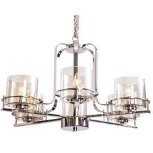 Eclairage en chandelier en verre et en fer nickel brillant Hotsell (SL2250-6)