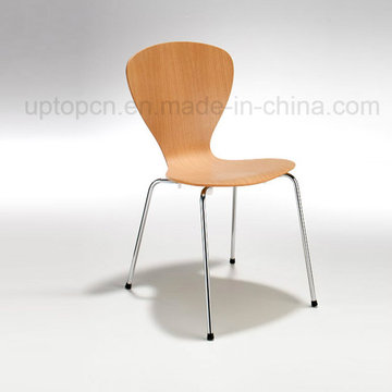 Fast Food Cafe Chair Steel Legs Bentwood Chair (SP-BC372)