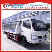 Dongfeng 4ton ein Tow zwei Flachbett Abschleppwagen zum Verkauf