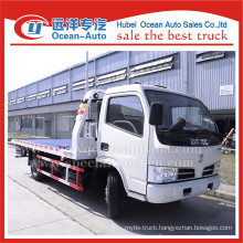 Dongfeng 4ton one tow two flatbed tow truck for sale
