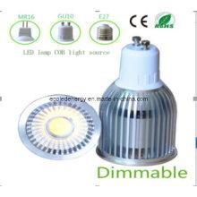 Dimmable White GU10 9W COB LED Bulb