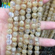 Großhandel SMOKEY Natürliche Glasperlen Schmuck Edelstein Runde Lose Perlen
