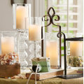 Indoor Outdoor Ivory LED Wax Candle with Battery Operated