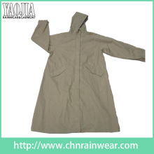 Yj-6205 Mulheres elegantes Longo Viagem Raincoat Rain Wear Meninas Chuva Coats