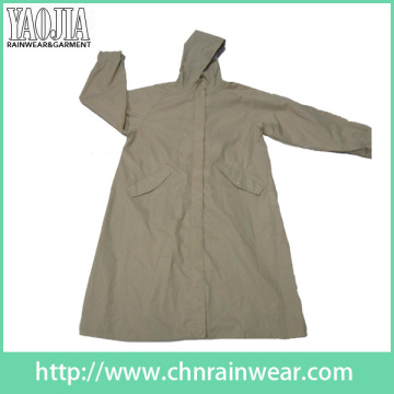 Yj-6205 Stylish Womens Long Travel Raincoat Rain Wear Girls Rain Coats