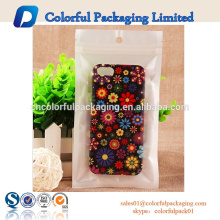 Blue color hot sale laminated ziplock mobile phone cover bag