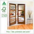 Shaker Style 3 Lite Glazed Interal Wooden Door