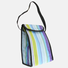 Stripe Printing Thermal Insulated Lunch Box Tote Cooler