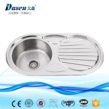 Productos populares en Malasia Lavabo moderno diseñado del lavabo del lavado del gabinete del lavadero del acero inoxidable