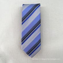 Vente en gros 100% tissé promotionnel Jacquard Stripe Fashion Accessoires 2018 pour cravate soie homme