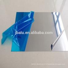 Feuille d'aluminium de finition de miroir réfléchissant solaire avec le film de PVC